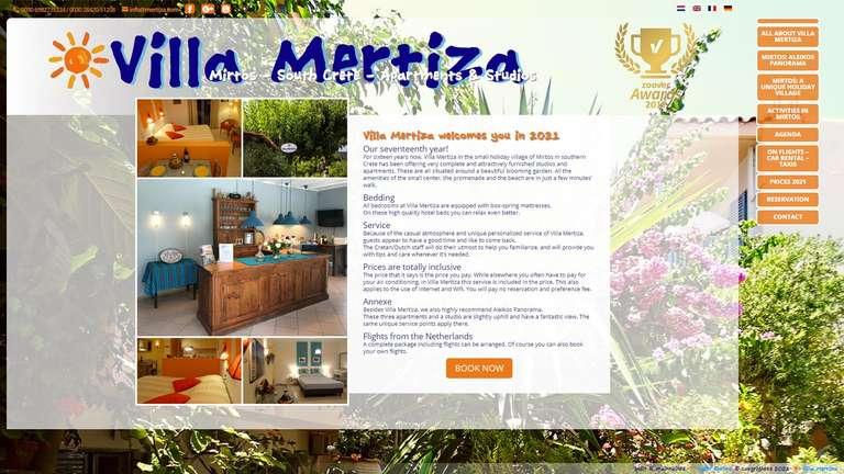 screenshot Mertiza website