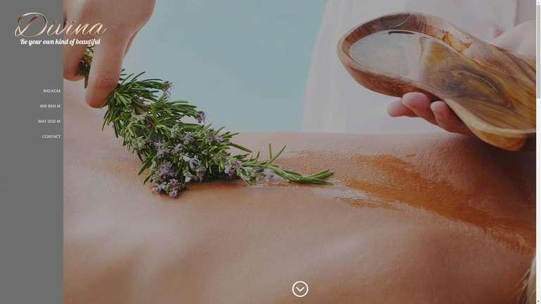 screenshot Salon Divina website