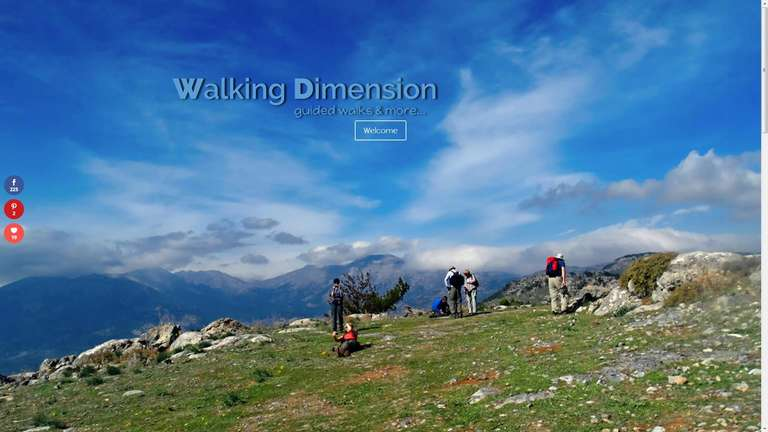 screenshot Walking Dimension website