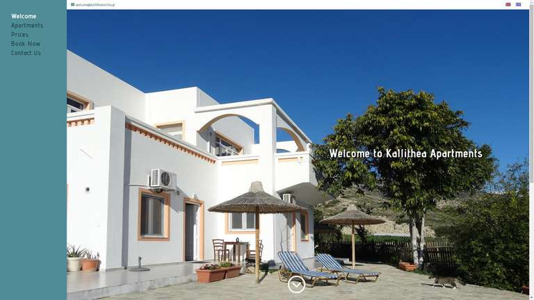 screenshot Kallithea Mirtos website