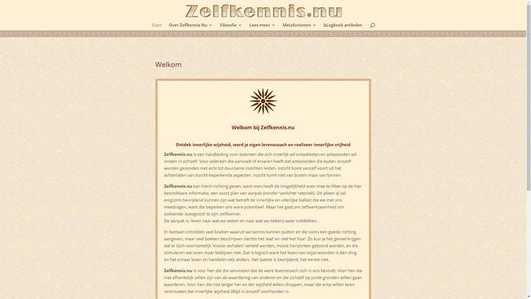 screenshot Zelfkennis website