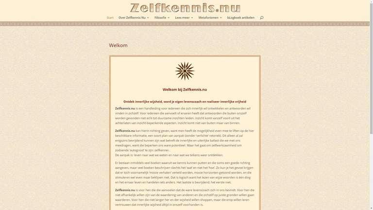 screenshot Zelfkennis website