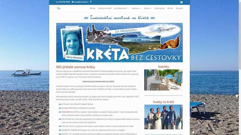 screenshot Dovolená na Krétě website