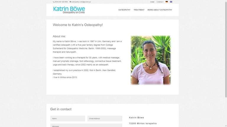 screenshot Katrin Böwe Osteopathy website